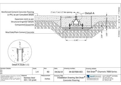 Slot drain-7000 Series Concrete Flooring