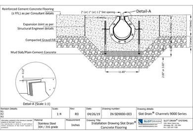 Slot drain-9000 Series Concrete Flooring